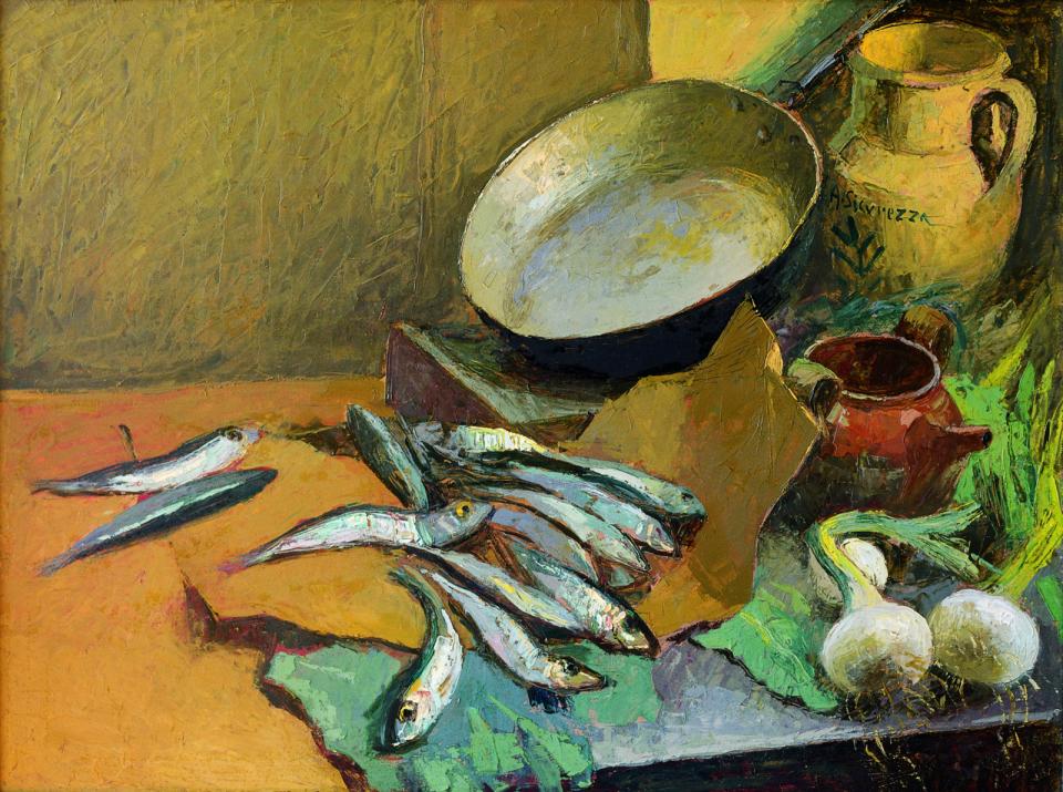 bagna caudA Antonio_Sicurezza_-_Still_life_with_anchovies