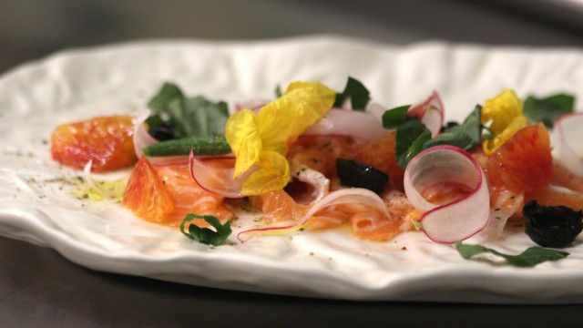 Salmon Belly Crudo